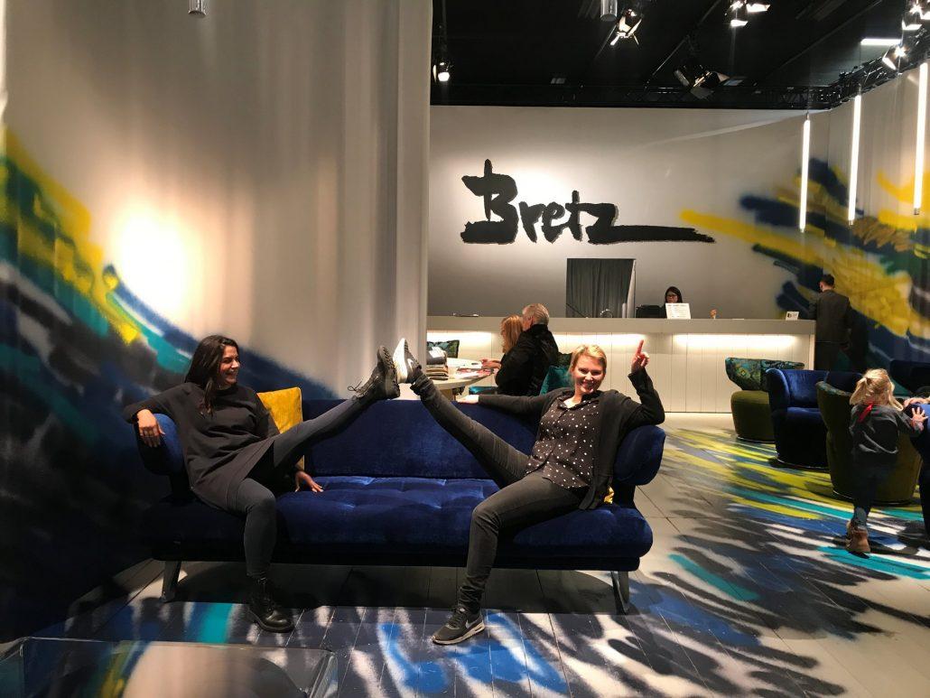 Bretz Köln Möbelmesse IMM 2018 Croissant bluemoon