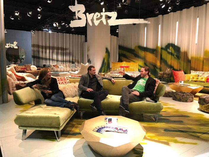 Bretz Köln Möbelmesse IMM 2018 Modell Croissant Kiwi